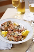 Pork Chops with Capers, Lemon and Butter Sauce