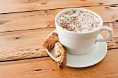 Cappuccino and biscotti