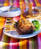 Barbecued rack of beef