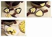 Raclette being prepared