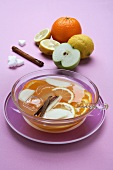 Citrus fruit and apple punch