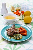 Lamb chops with a lemon and honey marinade