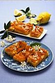 Baklava with pistachios and orange blossom