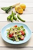 Salad with swordfish and salmoriglio (Sicilian sauce)
