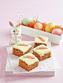 Tray-baked carrot cake to celebrate Easter