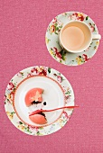Punch cake and a cup of tea