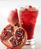 Cherry juice with pomegranates