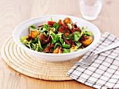 Roast potato salad with lamb's lettuce