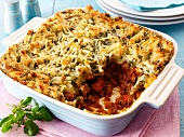 Shepherds pie in a baking dish