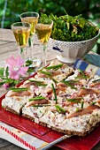 Herring and chive sandwich cake (Sweden)
