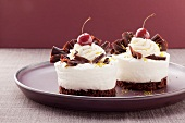 Two Black Forest-style gateaux