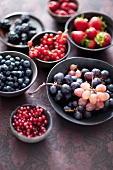 Various berries and grapes