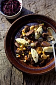 Hare stew with dumplings