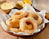 Taralli (fried Italian pastries rings)