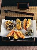 Vegetable and prawn tempura (Japan)