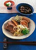 Swordfish steaks with sauce (Asia)