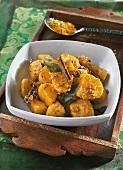 Spicy sweet potatoes (India)