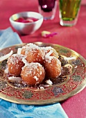 Gulab Jamun (fried dough balls from India)