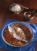 Braised fish in fennel sauce