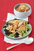 Turkey salad with apple and lentils
