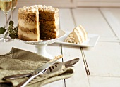 Dulce de Leche Cake with Dulce de Leche Frosting and Milk Crumbs