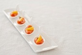 Appetizer Spoons with Smoked Salmon and Lemon