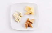 Three Sheep Milk Cheeses; Blue Cheese and Two Caramelized Onion Cheeses