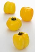 Vier gelbe Tomatenpaprika