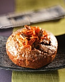 Carrot cake with pecan nuts