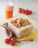 Orecchiette pasta with olive cream and tomatoes