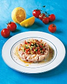 Vegetable tartar with tomatoes