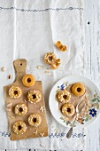 Pumpkin biscuits with pistachios and almonds