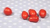 Teardrop tomatoes, rolling