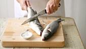 Fisch entschuppen