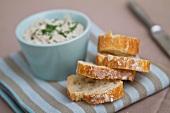 White bread and a spread
