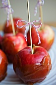 Apples with a caramel glaze