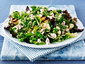 Sommersalat mit Hähnchen und Feta