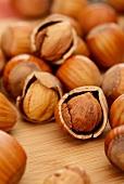 Hazelnuts (close-up)