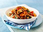 Mushroom tajine with couscous