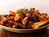Roasted winter vegetables with thyme