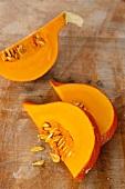 Hokkaido pumpkin wedges