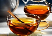 Herbal tea with cinnamon and apricots