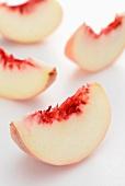 White peach wedges