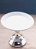 A silver cake stand