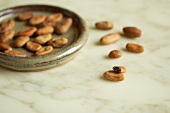 Raw, unroasted cocoa beans