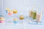 Smoothies and cupcakes for a party
