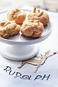 Christmas biscuits with pine nuts
