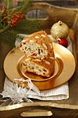 Almond cake with dried fruits for Christmas