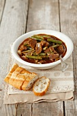 Beef goulash with green beans