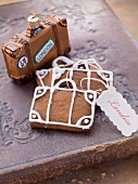 Suitcase-shaped gingerbreads
